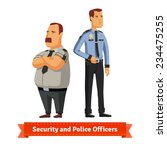 security and police officers... | Shutterstock .eps vector #234475255