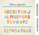ribbon latin alphabet and... | Shutterstock .eps vector #234481006