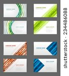 set of business cards design... | Shutterstock .eps vector #234486088
