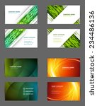 set of business cards design... | Shutterstock .eps vector #234486136
