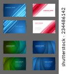 set of business cards design... | Shutterstock .eps vector #234486142