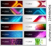 business banners set for... | Shutterstock .eps vector #234486406