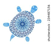 Turtle With Mandala Pattern....