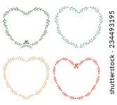 set of four hand drawn frames...   Shutterstock .eps vector #234493195