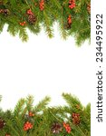 christmas green  framework with ... | Shutterstock . vector #234495922