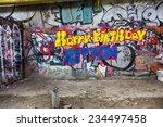 beautiful street art graffiti.... | Shutterstock . vector #234497458