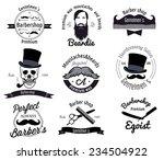 set of retro barber shop logo....