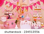 delicious sweet buffet with... | Shutterstock . vector #234513556