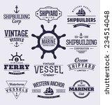 set of vintage typographic... | Shutterstock .eps vector #234514048