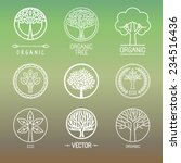 vector tree logo   set of... | Shutterstock .eps vector #234516436