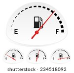 fuel indicators set at 4 stages....   Shutterstock .eps vector #234518092