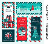 christmas and happy new year... | Shutterstock .eps vector #234521992