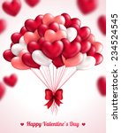valentine's day background with ...   Shutterstock .eps vector #234524545