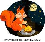 illustration of funny squirrel...