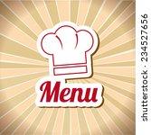 restaurant design over beige... | Shutterstock .eps vector #234527656