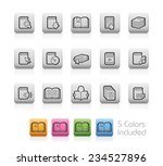 book icons    outline buttons   ... | Shutterstock .eps vector #234527896