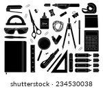 stationery tools  marker  paper ... | Shutterstock .eps vector #234530038