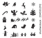 christmas isolated icons on a... | Shutterstock .eps vector #234531292