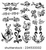 set of vintage calligraphic... | Shutterstock .eps vector #234533332