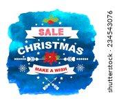 christmas poster sale. | Shutterstock .eps vector #234543076