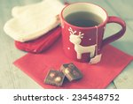 retro photo of cute coffee cup... | Shutterstock . vector #234548752