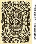 ethnic tribal native... | Shutterstock .eps vector #234551812