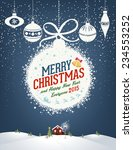 merry christmas and happy new... | Shutterstock .eps vector #234553252