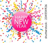 happy new year card with... | Shutterstock .eps vector #234554926