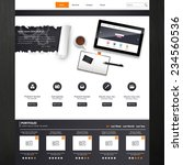 website template vector design...