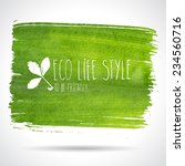 green hand drawn banner   eco... | Shutterstock .eps vector #234560716