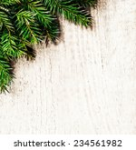 festive  christmas fir tree on... | Shutterstock . vector #234561982