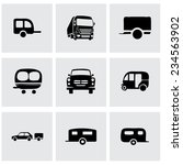 vector trailer icon set on grey ... | Shutterstock .eps vector #234563902