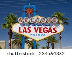 close up of famous sign on las... | Shutterstock . vector #234564382