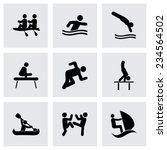 vector sport icon set on grey... | Shutterstock .eps vector #234564502