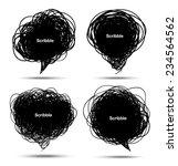 set of scribble black bubbles ...   Shutterstock . vector #234564562