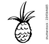 pineapple cartoon sketch hand... | Shutterstock . vector #234564685