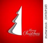 merry christmas paper tree... | Shutterstock .eps vector #234569185