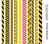 yellow with black and red with... | Shutterstock .eps vector #234572572