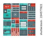 mobile flat ui | Shutterstock .eps vector #234577822