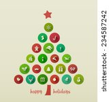 holiday card  christmas tree... | Shutterstock .eps vector #234587242
