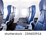 empty airplane seats in the... | Shutterstock . vector #234603916