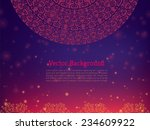 ethnic   colorful henna mandala ... | Shutterstock .eps vector #234609922