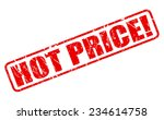 Hot Price Red Stamp Text On...
