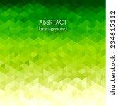 Green Triangular Background  ...