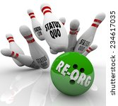 re org word on a green bowling... | Shutterstock . vector #234617035