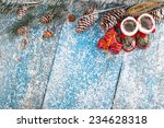 winter decoration. composition... | Shutterstock . vector #234628318