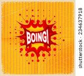 cartoon blast boing  on a...   Shutterstock . vector #234637918
