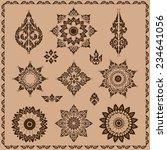 set of thai ornament  thai... | Shutterstock .eps vector #234641056