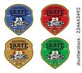 skateboarding badge vector  ... | Shutterstock .eps vector #234643492