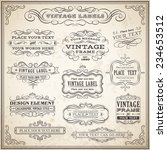 big collection of vintage... | Shutterstock .eps vector #234653512